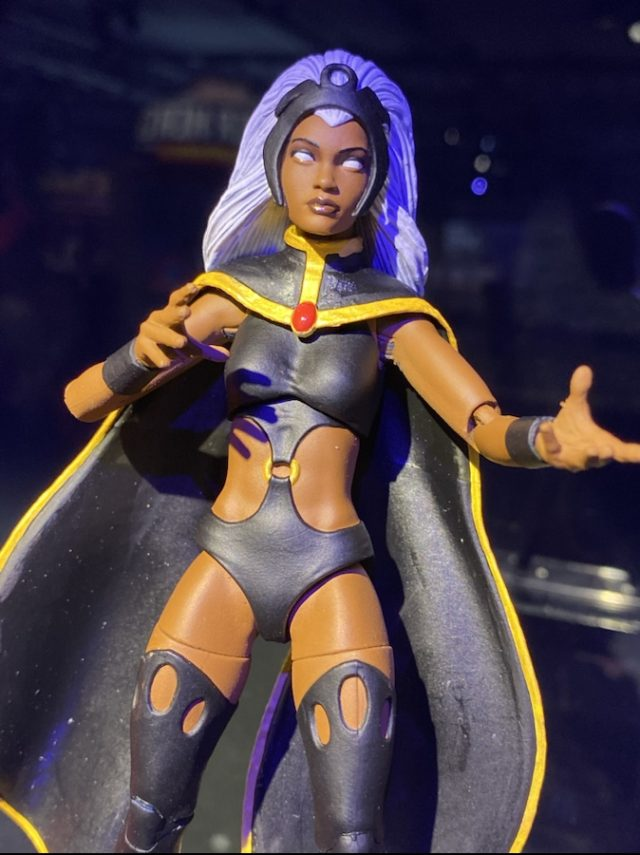Close-Up of First Appearance Storm Marvel Legends Action Figure