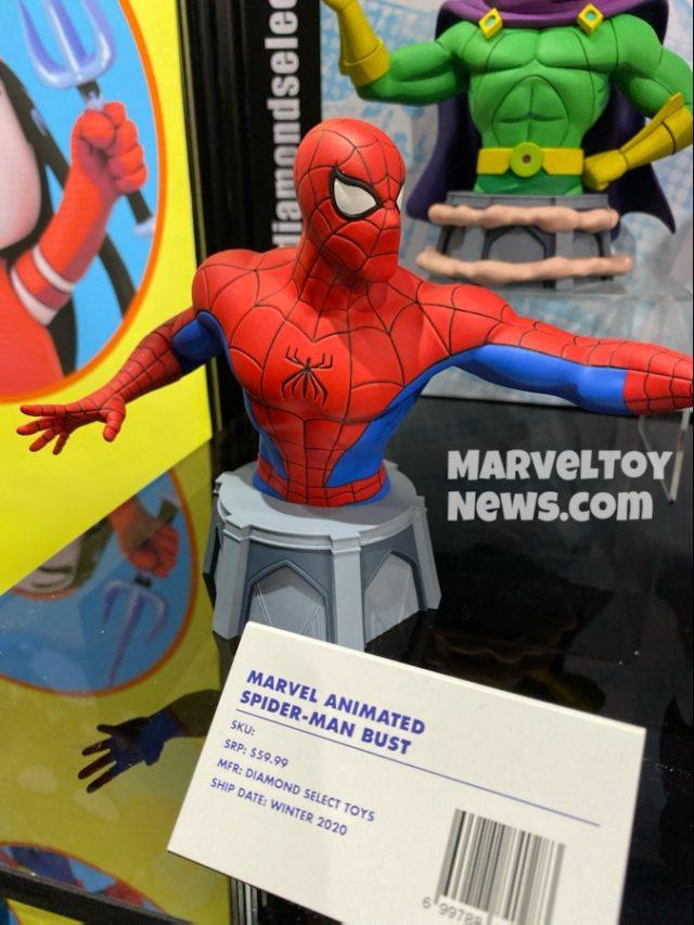 Diamond Select Toys Spider-Man Animated Bust Toy Fair 2020