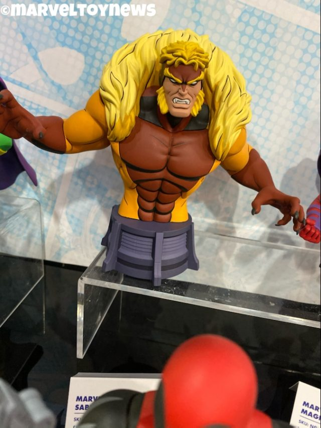 New York Toy Fair 2020 DST X-Men Sabretooth Mini Bust Animated