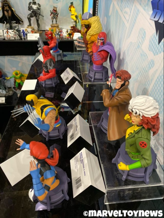 Marvel Animated Busts 90s Display New York Toy Fair 2020 X-Men Spider-Man