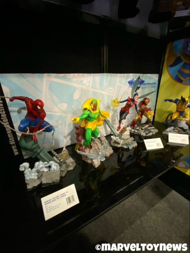 Toy Fair 2020 Spider-Man Marvel Gallery VS Diamond Select Statues Vision Iron Man Wasp