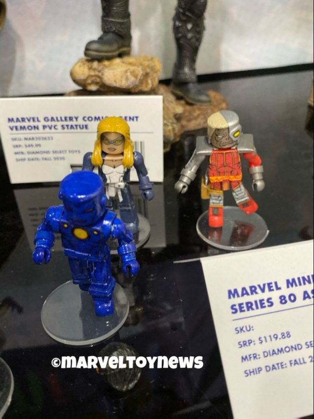 Marvel Minimates Series 81 Stealth Iron Man Deathlok Mockingbird Figures