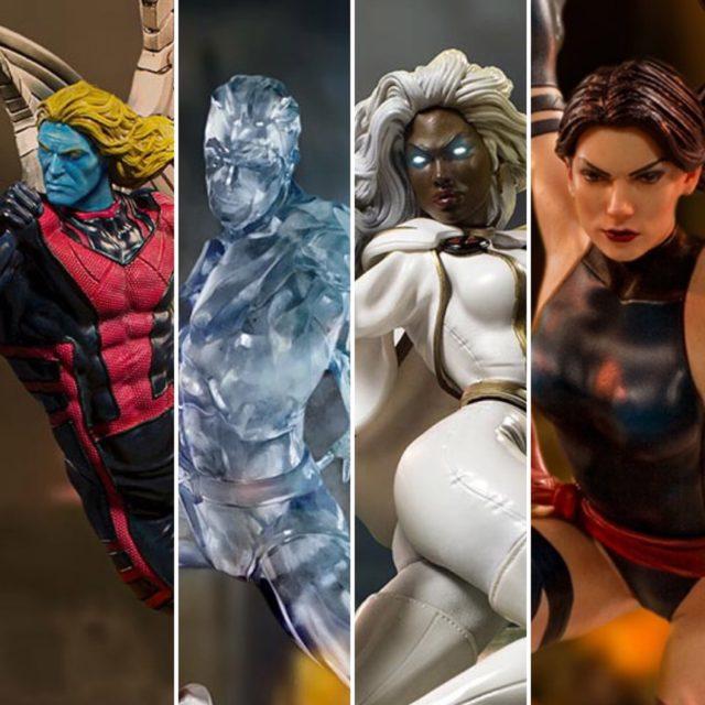 Iron Studios X-Men Statues Archangel Iceman Storm Psylocke