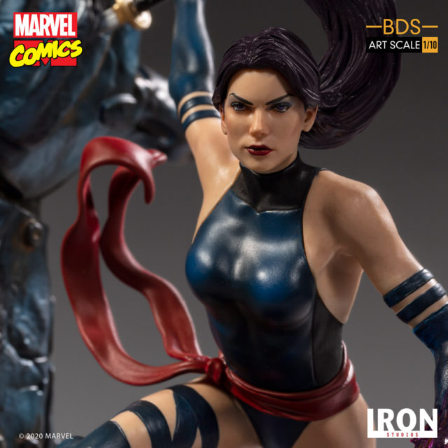 Close-Up of Psylocke Iron Studios Statue