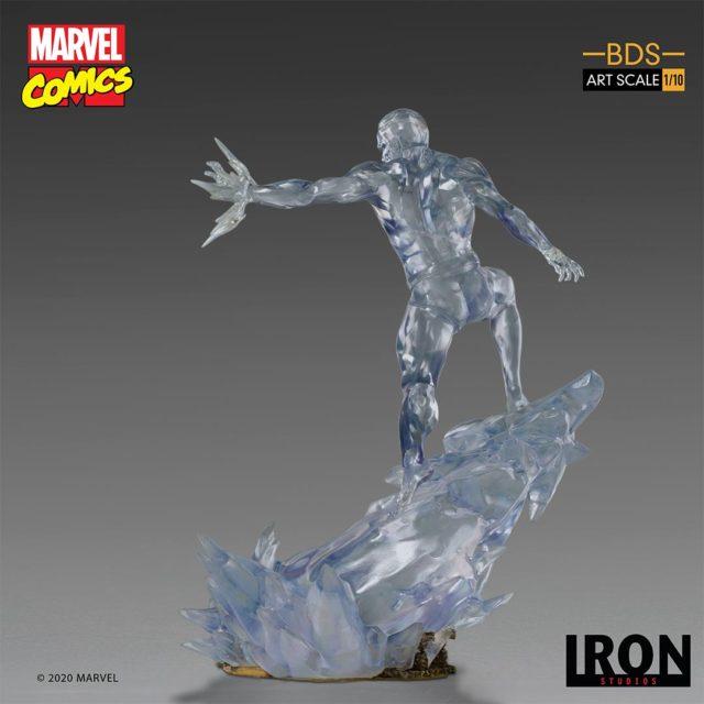Iceman Iron Studios Statue Back
