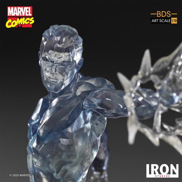 Iron Studios Iceman Portrait Close-Up Smirk