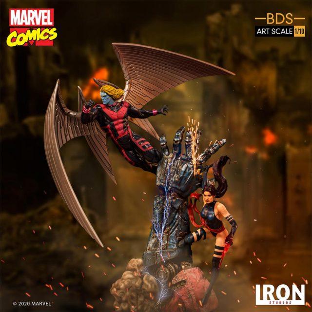 Iron Studios X-Men Psylocke and Archangel Statues