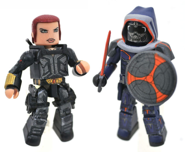 Marvel Minimates Black Widow Movie Taskmaster and Black Widow Figures