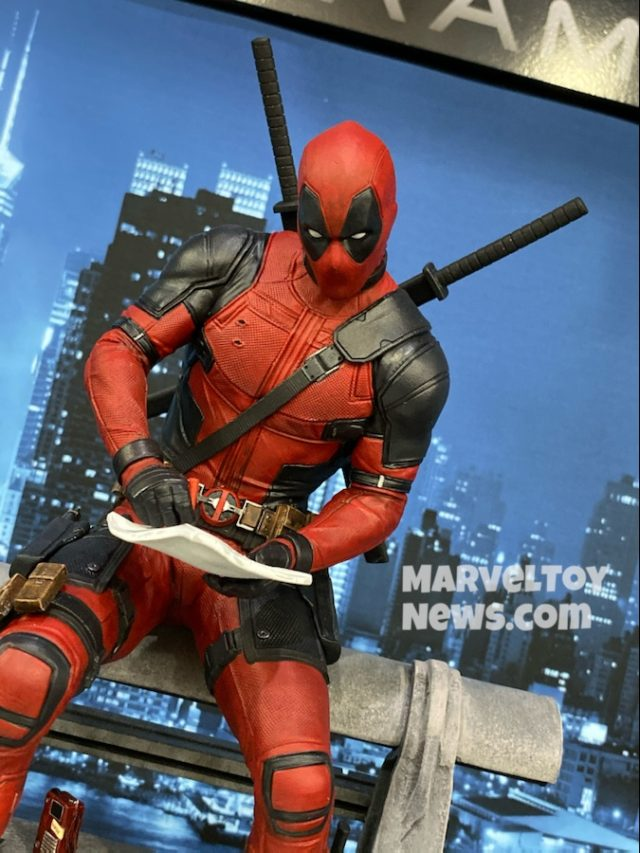 New York Toy Fair 2020 Marvel Premier Collection Movie Deadpool Statue Close-Up