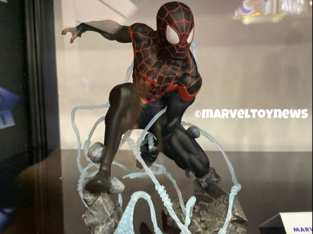 Marvel Premier Collection Miles Morales at NY Toy Fair