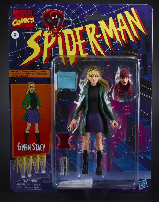 Marvel Legends 2020 Gwen Stacy Spider-Man Retro Series Figure Packaged