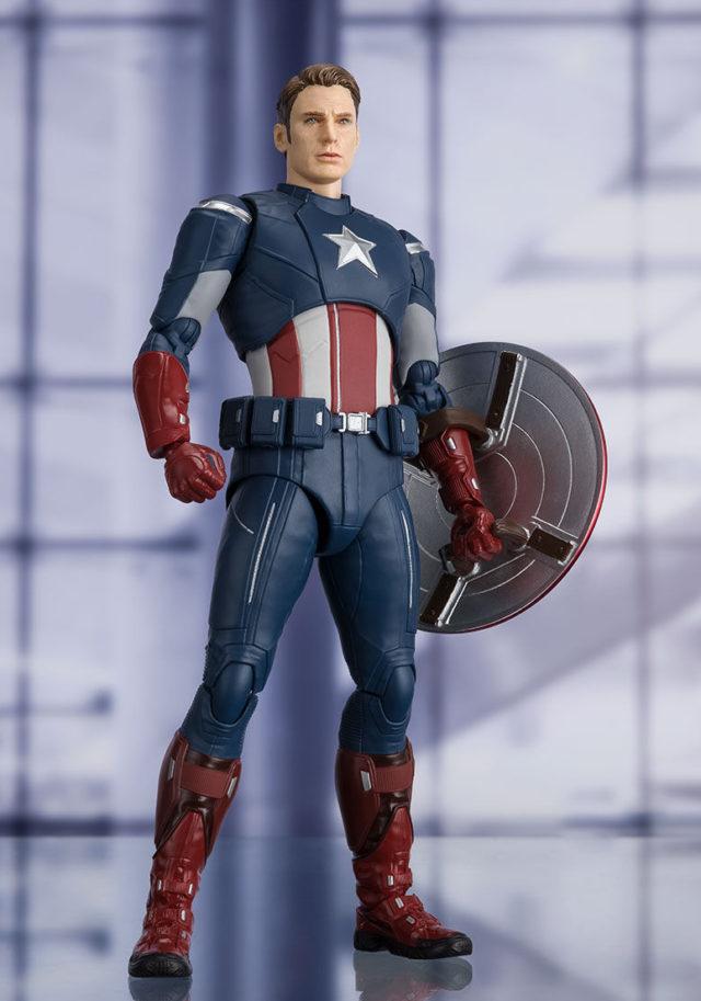 Bandai Avengers Endgame 2012 Captain America Unmasked Chris Evans Portrait