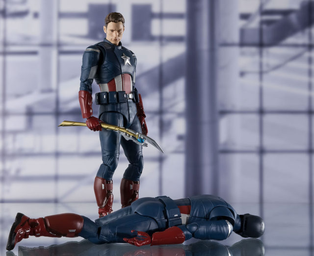 Bandai Marvel Figuarts Avengers Movie Captain America America's Ass Figure