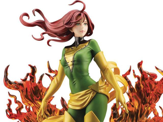 Close-Up of Green Phoenix Rebirth NYCC 2020 Exclusive Kotobukiya PVC Figure