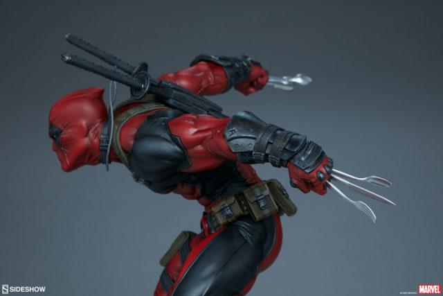 Deadpool Sideshow Premium Format Figure Utensils Hands Forks Spoons