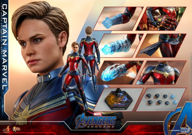 Hot Toys Avengers Endgame Captain Marvel Sixth Scale Figure and Accessories