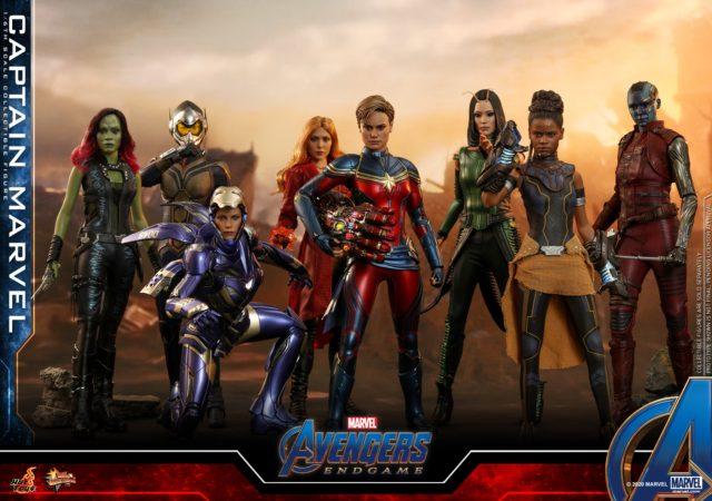 Hot Toys Endgame Female Women Avengers Figures Lineup Captain Marvel
