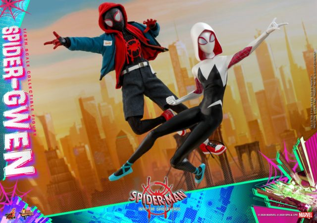 Hot Toys Into the Spider-Verse Miles and Ghost Spider Figures