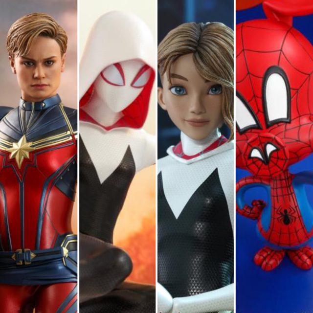 Hot Toys Spider-Gwen Endgame Captain Marvel Spider-Ham Figures