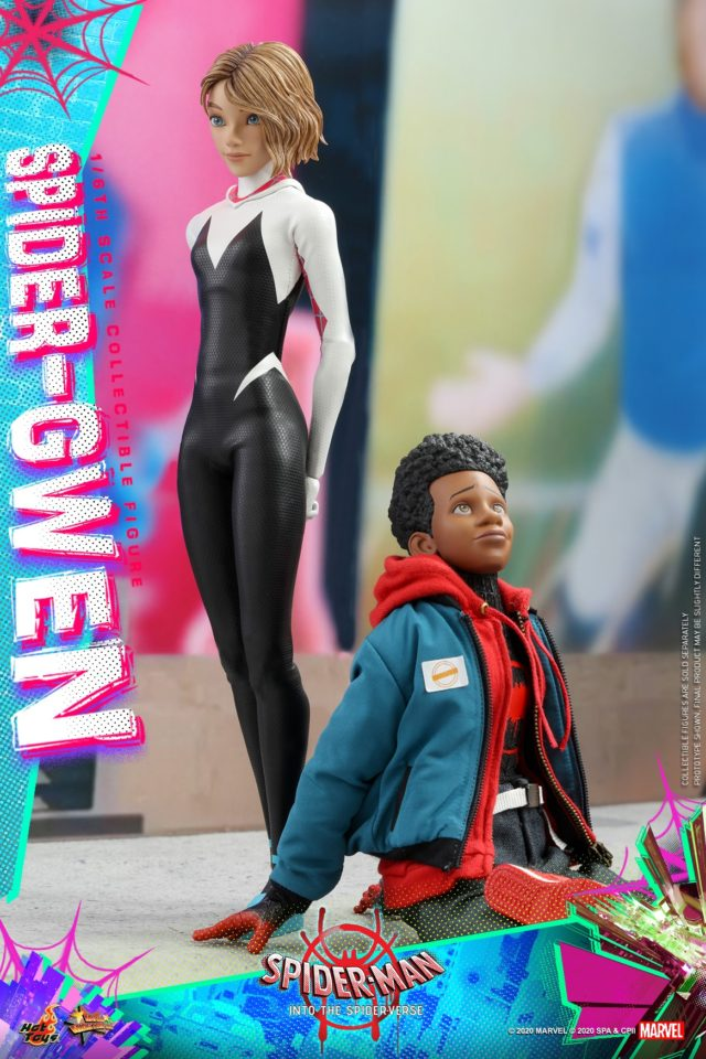 Into the Spiderverse Hot Toys Spider Gwen and Miles Morales Sixth Scale Figures