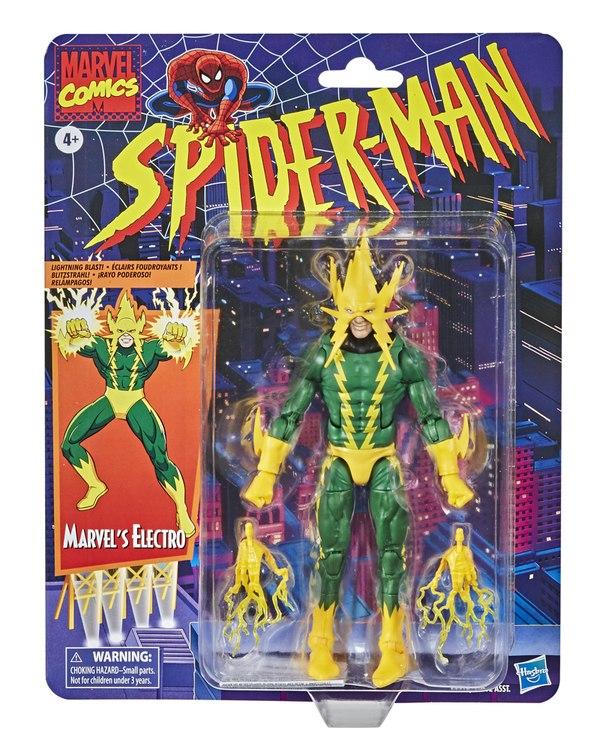 Marvel Legends 2020 Electro Spider-Man Retro Wave Figure Packaged