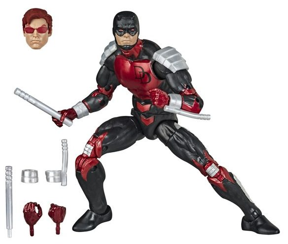 Marvel Legends Armored Daredevil Figure Spider-Man Vintage Wave