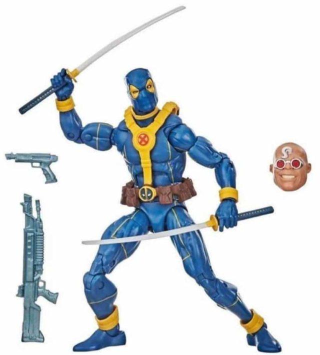Marvel Legends Blue Deadpool X-Men Costume Figure Strong Guy Series