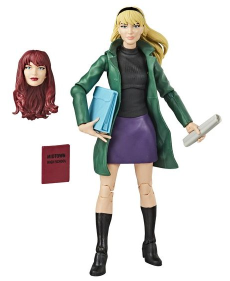 Marvel Legends Gwen Stacy Figure with Mary Jane Head
