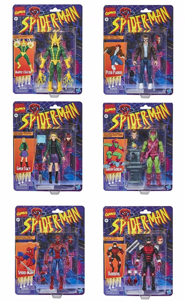 Marvel Legends Spider-Man Retro Series Figures Packaged