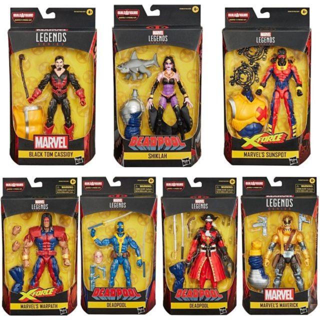 Marvel Legends Strong Guy Series Figures Packaged