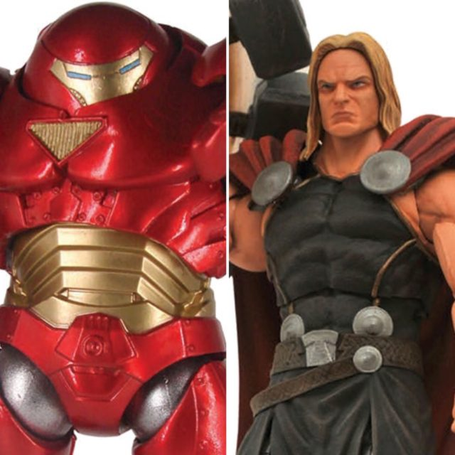 Marvel Select Hulkbuster Iron Man and Mighty Thor Figure Reissues