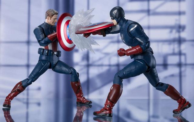 SH Figuarts 2012 Avengers Captain America Figure Cap vs Cap