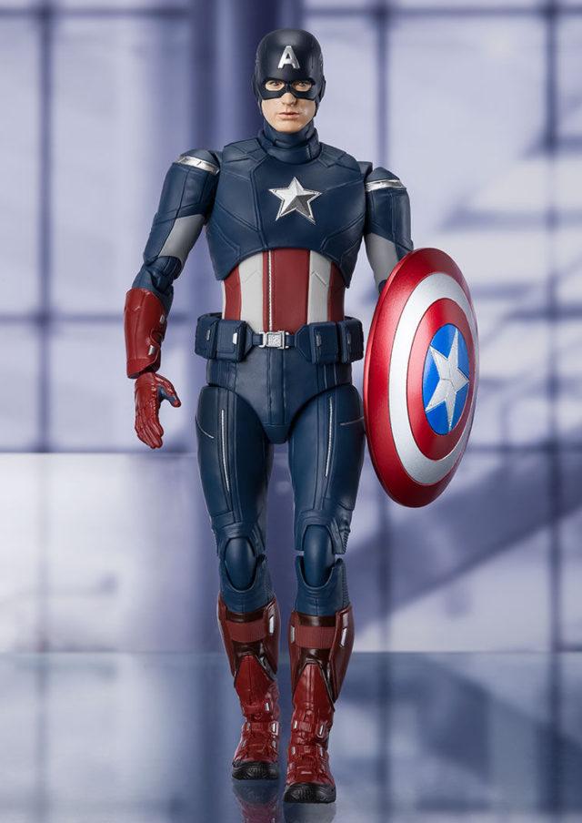 SH Figuarts Avengers Endgame Captain America Cap vs. Cap Figure Walking
