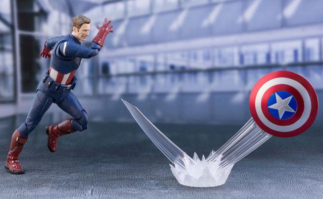 SH Figuarts Captain America 2012 Figure Shield Ricochet Effects Piece
