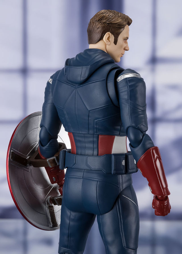 SH Figuarts Endgame Captain America 2012 Figure with Mask Back on Collar