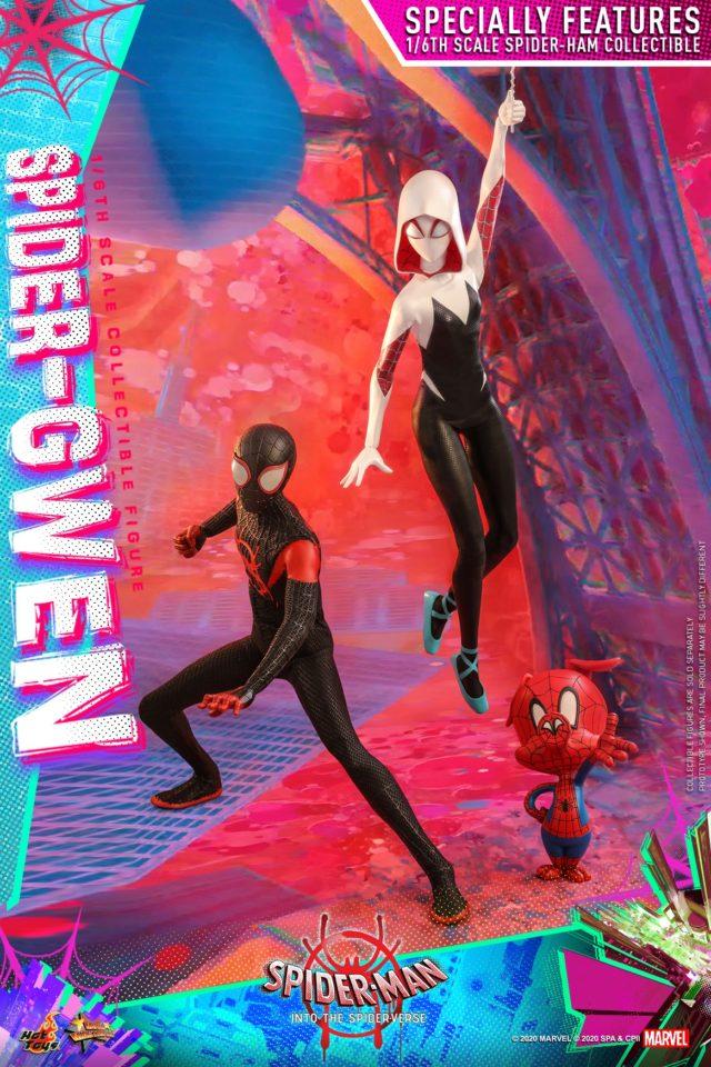 Spider-Man Into the Spider Verse Hot Toys Figures Miles Gwen Spider-Ham