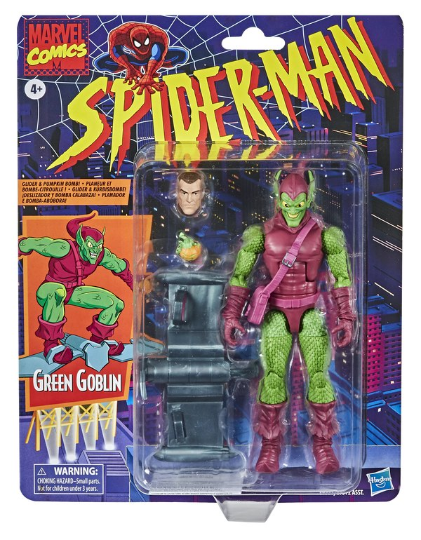 Spider-Man Legends Retro Series Green Goblin Figure Packaged with Norman Osborn Head