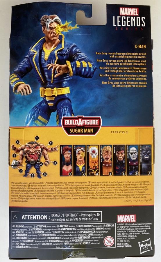 Box Back Nate Grey Marvel Legends X-Man Figure Packaging AOA