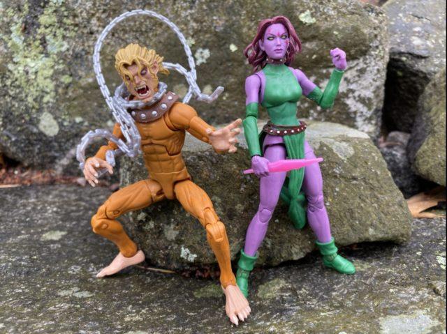 Size Comparison X-Men Marvel Legends Blink AOA Wild Child Figures