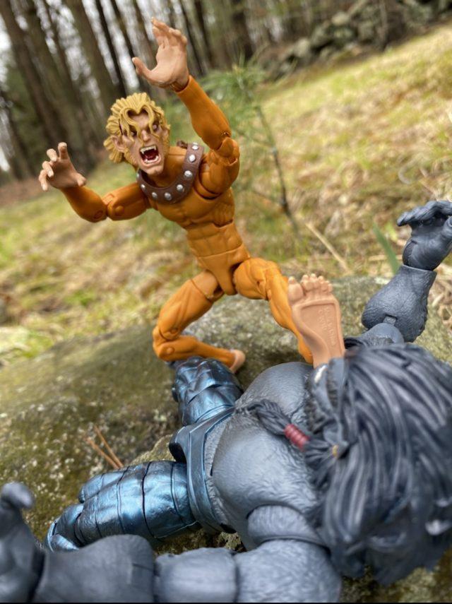 Wild Child Marvel Legends Sugar Man Figure Articulation vs Dark Beast