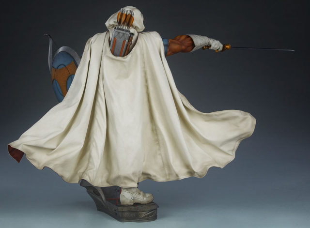 Back View of Taskmaster Quarter Scale Statue by Sideshow Collectibles Soft Goods Cape