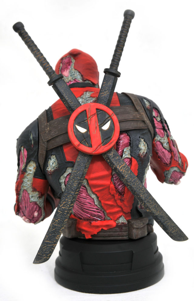 Back of Zombie Deadpool Mini Bust 2020 Convention Exclusive