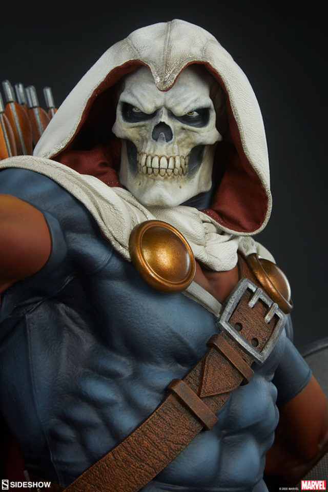 Close-Up of Skull Head Portrait Taskmaster Sideshow Collectibles Statue