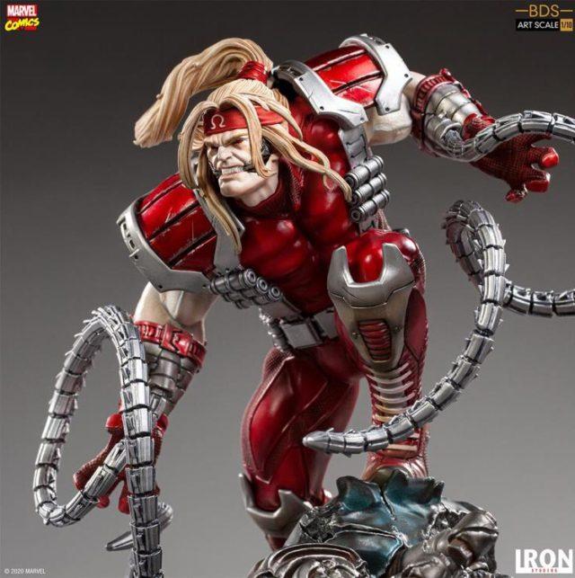 Iron Studios Omega Red Statue Close-Up