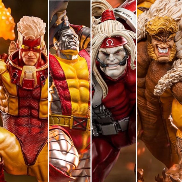 Iron Studios X-Men Series Sabretooth Colossus Omega Red Pyro Statues