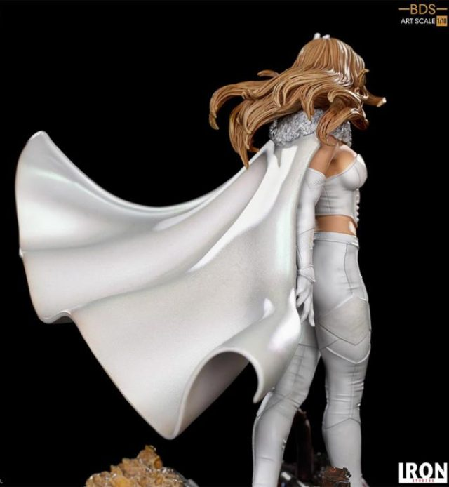 Side View of Iron Studios Emma Frost White Queen Statue