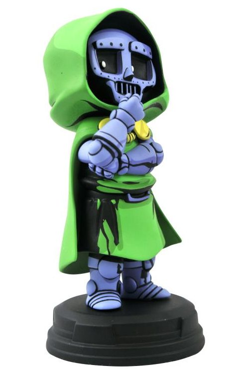 Side View of Marvel Animated Dr Doom Statue Gentle Giant Ltd