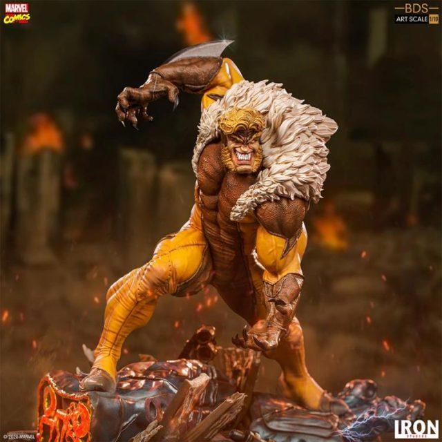 X-Men Sabertooth Iron Studios Statue BDS