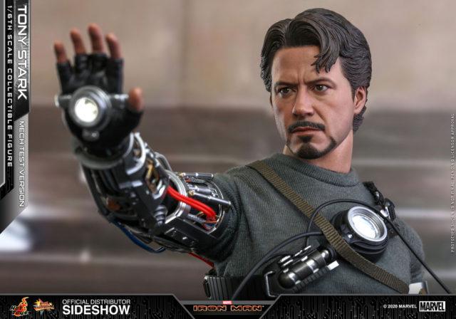Close-Up of Hot Toys Robert Downey Jr. Tony Stark Portrait Mech Test 2