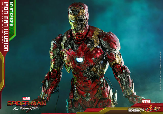 Close-Up of Hot Toys Zombie Iron Man MMS 12 Inch Figure